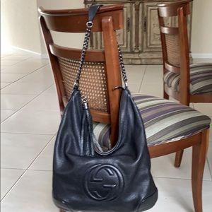 Authentic Gucci chain soho hobo shoulder bag